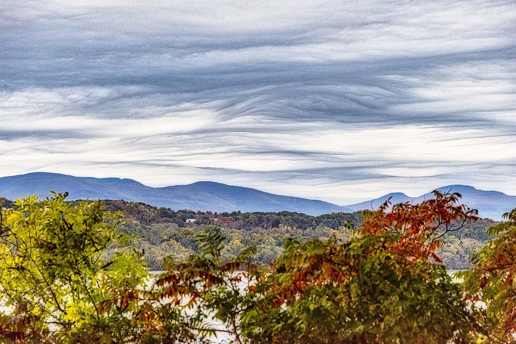 Autumn Hudson River and Catskills - 455