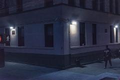 Harlem Street at Night - 519
